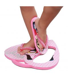 Girl's pink flip-flops, girl's beach and swimming pool sandals - Plouf