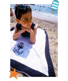Children's beach, bath or swimming pool towel for boys and girls - Plouf